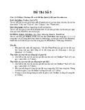 Đề thi Cơ sở dữ liệu (Đề số 5)