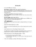 Đề thi Cơ sở dữ liệu (Đề số 7)