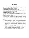 Đề thi Cơ sở dữ liệu (Đề số 6)