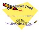 Bài thuyết trình Mathematica