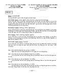 Đề thi tốt nghiệp cử nhân CNTTQM năm 2010 môn Cơ sở dữ liệu (Đề số 1)