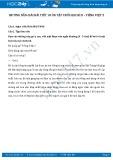 Hướng dẫn giải bài tập Ôn tập cuối học kì II SGK Tiếng Việt 2