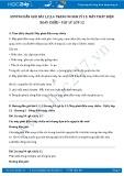 Hướng dẫn giải bài 1,2,3,4 trang 94 SGK Lý 12