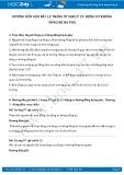 Hướng dẫn giải bài 1,2 trang 97 SGK Vật lý 12