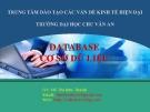 Bài giảng Cơ sở dữ liệu: Chương 1 - GV. Đỗ Thị Kim Thành