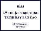 Bài giảng môn học Quản trị văn phòng: Chương 9.4 - TS. Nguyễn Nam Hà