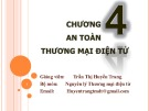 Bài giảng Thương mại điện tử căn bản: Chương 4 - Trần Thị Huyền Trang