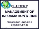 Bài giảng môn học Quản trị văn phòng: Chương 2 - TS. Nguyễn Nam Hà
