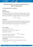 Hướng dẫn giải bài 1,2,3,4 trang 28 SGK Vật lý 11