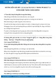 Hướng dẫn giải bài 1,2,3,4,5,6,7,8,9,10,11 trang 99 SGK Vật lý 11
