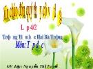 Giáo án môn Tập đọc lớp 4 - Nguyễn Thị Tuyết