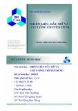 Bài giảng Nhiên liệu dầu mỡ và chất lỏng chuyên dùng - ThS. văn Thị Bông