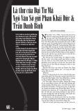 Lá thư của Đại Tư Mã Ngô Văn Sở gửi Phan Khải Đức & Trần Danh Bính - Nguyễn Duy Chính