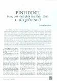 Bình Định trong quá trình phôi thai hình thành chữ Quốc ngữ - Trương Anh Thuận