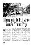 Những vấn đề lịch sử về Nguyễn Trung Trực - Lê Công Lý