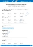 Hướng dẫn giải bài 1,2,3,4 trang 55 SGK Toán 1