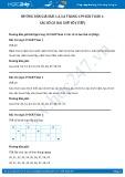 Hướng dẫn giải bài 1 trang 138 SGK Toán 1