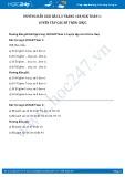 Hướng dẫn giải bài 1,2,3,4 trang 128 SGK Toán 1