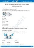 Hướng dẫn giải bài 1 trang 117 SGK Toán 1