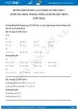 Hướng dẫn giải bài 1,2,3,4 trang 125 SGK Toán 1