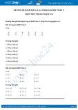 Hướng dẫn giải bài 1,2,3,4 trang 66 SGK Toán 1