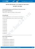 Hướng dẫn giải bài 1,2,3,4 trang 107 SGK Toán 1