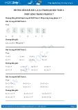 Hướng dẫn giải bài 1,2,3,4 trang 68 SGK Toán 1