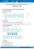 Hướng dẫn giải bài 1,2,3,4 trang 164 SGK Toán 1