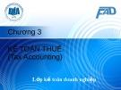 Bài giảng Kế toán tài chính 3: Chương 3 - ĐH Kinh tế TP.HCM