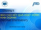 Bài giảng Kế toán tài chính 3: Chương 5 - ĐH Kinh tế TP.HCM