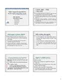 Bài giảng Tác tử - Công nghệ phần mềm dựa tác tử: Hệ đa Agent - Cộng đồng Agent