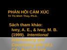 Bài giảng Tham vấn tâm lý: Phản hồi cảm xúc - Trì Thị Minh Thúy