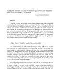 """Nghĩa từ nguyên của từ """"văn hiến"""" qua bối cảnh tri thức Nho giáo Việt Nam - Trung Hoa"""