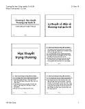 Bài giảng Kinh tế quốc tế (International Economics): Chương 2 - Hồ Văn Dũng