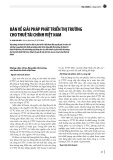 Bàn về giải pháp phát triển thị trường cho thuê tài chính Việt Nam