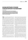 Quy định mới về quản lý lợi nhuận từ vốn nhà nước đầu tư tại doanh nghiệp