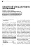 Phát hành trái phiếu quốc tế của chính phủ Việt Nam: Thực trạng và đánh giá