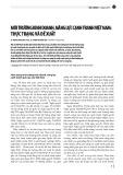 Môi trường kinh doanh, năng lực cạnh tranh Việt Nam: Thực trạng và đề xuất