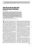 Thúc đẩy vai trò tài chính công trong nền kinh tế thị trường