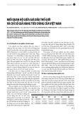 Mối quan hệ giữa giá dầu thế giới và chỉ số giá hàng tiêu dùng của Việt Nam