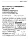 Thực thi chiến lược chính sách tiền tệ ở Việt Nam: Một vài đánh giá, đề xuất