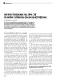 Mô hình thương mại hóa sáng chế và những chỉ dẫn cho doanh nghiệp Việt Nam