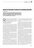Bàn về cơ chế quản lý giám sát thị trường bảo hiểm