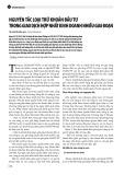 Nguyên tắc loại trừ khoản đầu tư trong giao dịch hợp nhất kinh doanh nhiều giai đoạn