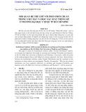 Mối quan hệ thể chế với phân phối chuẩn trong việc dạy và học Xác suất thống kê ở trường Đại học Y dược TP Hồ Chí Minh
