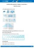 Giải bài tập Các số 1,2,3,4,5 SGK Toán 1