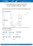 Giải bài tập Ôn tập các số đến 10 (tiếp theo – phần 1) SGK Toán 1