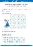 Giải bài tập Ôn tập các số đến 100 (tiếp theo – phần 2) SGK Toán 1
