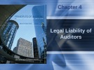Lecture Principles of auditing and other assurance services (15/e): Chapter 4 - Whittington, Pany