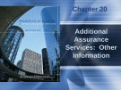 Lecture Principles of auditing and other assurance services (15/e): Chapter 20 - Whittington, Pany